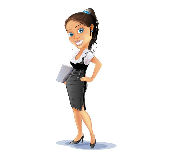 Successful Business Woman Vector Character With Images