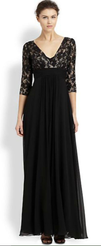Teri Jon Lace-Top Silk Chiffon Gown $232.00 $580.00 (60% Off) Saks ...
