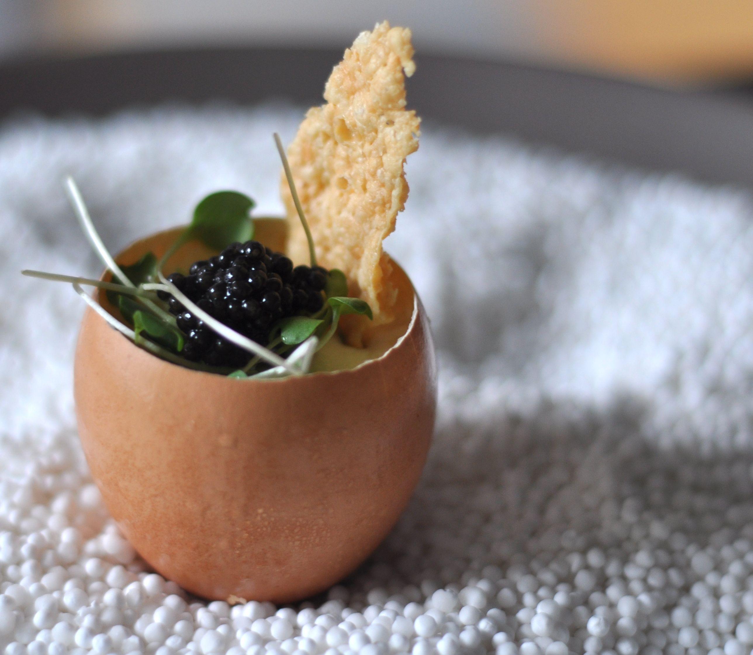 Caviar Egg Cups Caviar appetizers, Canapes recipes, Egg