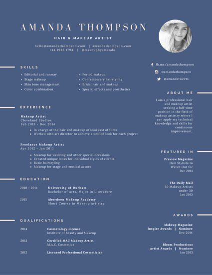 Pin By Audrey On Cv Ideas    Artist Resume