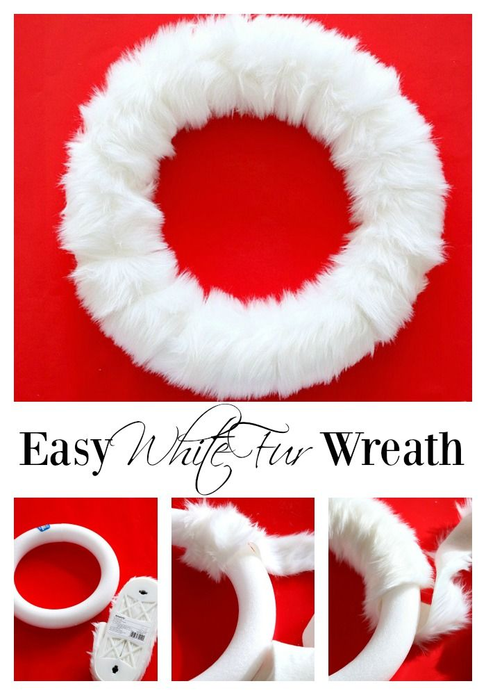 Easy White Fur Wreath - Duke Manor Farm
