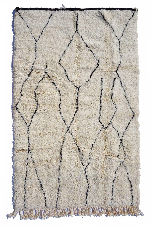 Tapis Beni Ouarain Noir Épinglé sur tapis berbère noir et blanc - tapis béni ouarain
