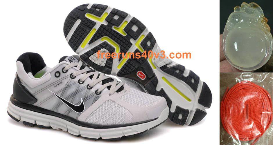premium selection c166b e81db Mens Nike Lunarglide 2 Gray Black Shoes
