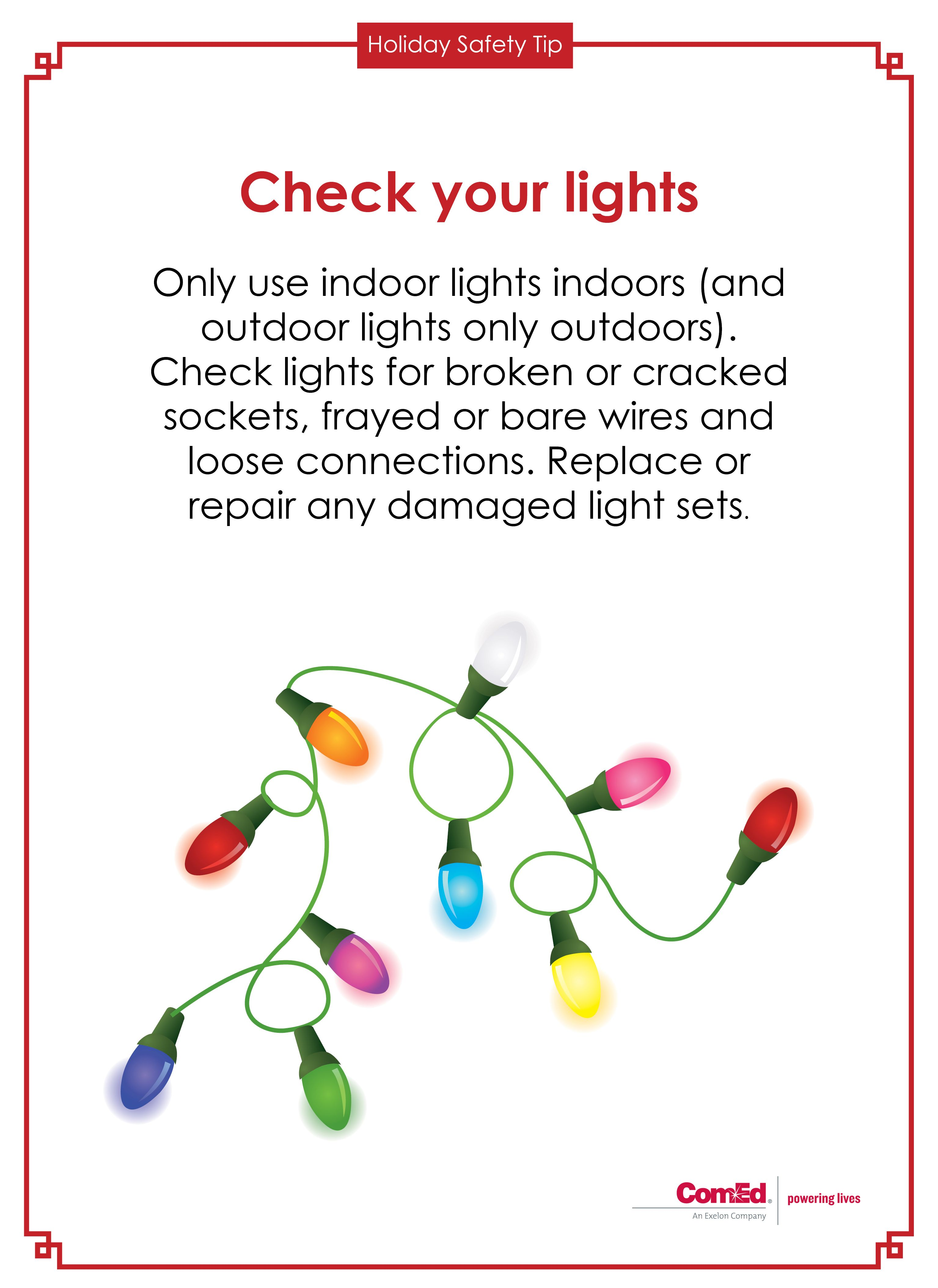 holiday safety tip before hanging up your holiday lights this year