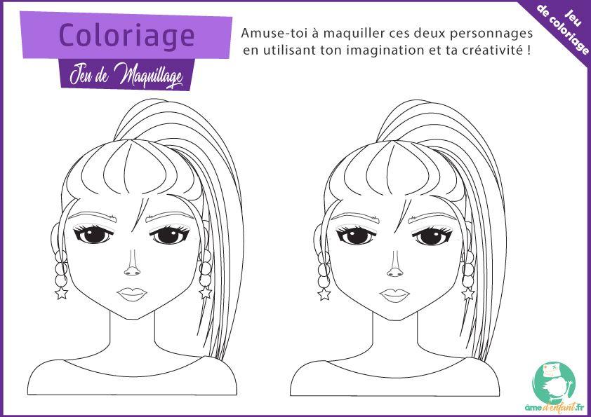 Coloriage Maquillage De Star Coloriage Stars Sans Maquillage Jeux A Imprimer