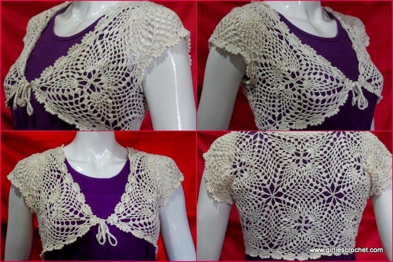 Elegant Bolero with free directions. | Crochet & Sew | Pinterest