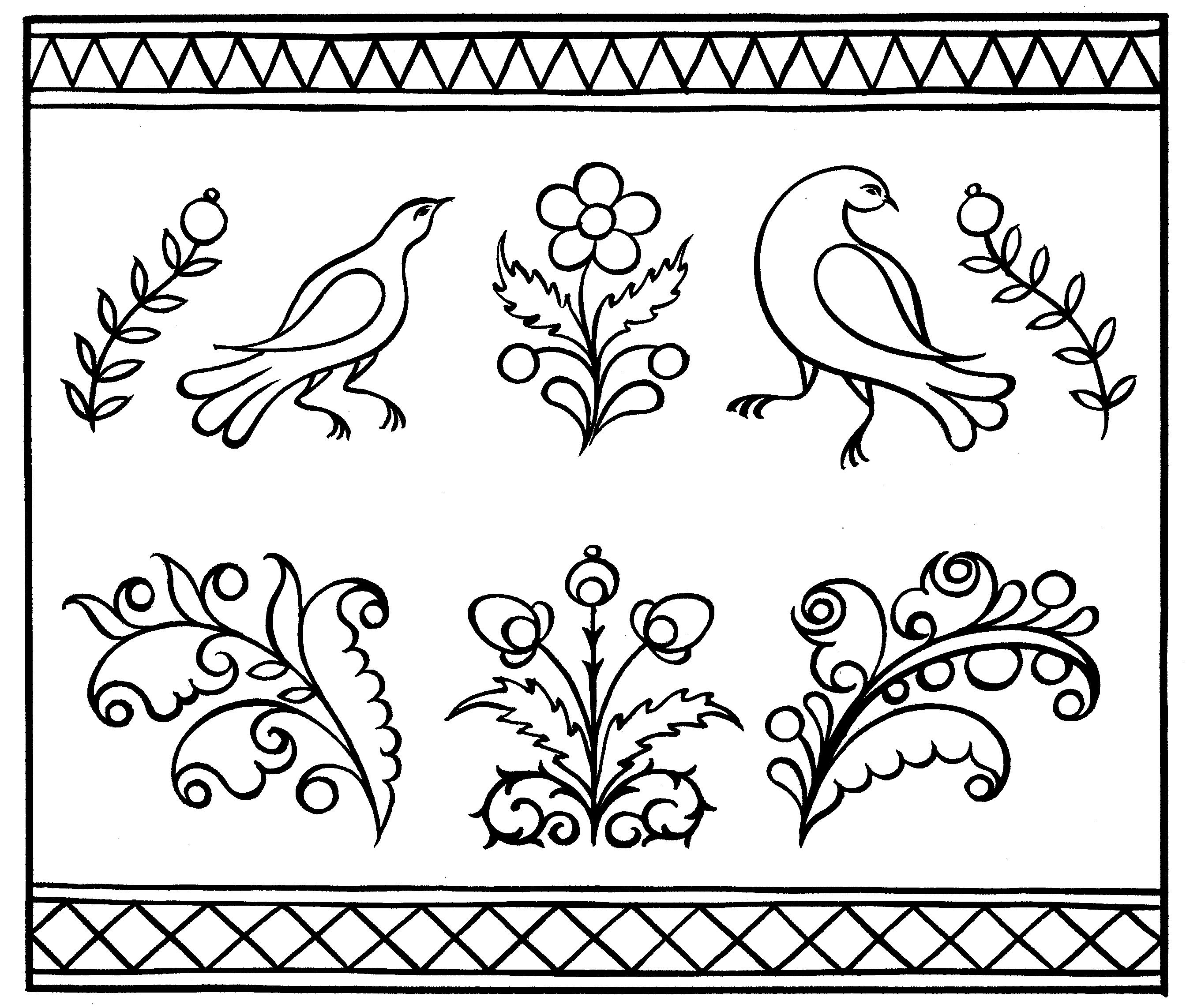 Русские орнаменты картинки трафареты