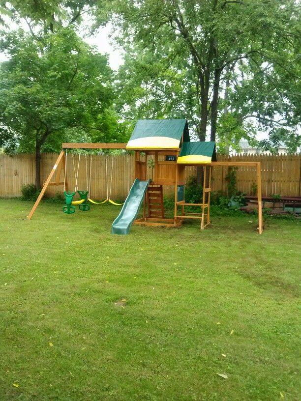 Big Backyard Wellington Playset from Toys R Us installed ...
