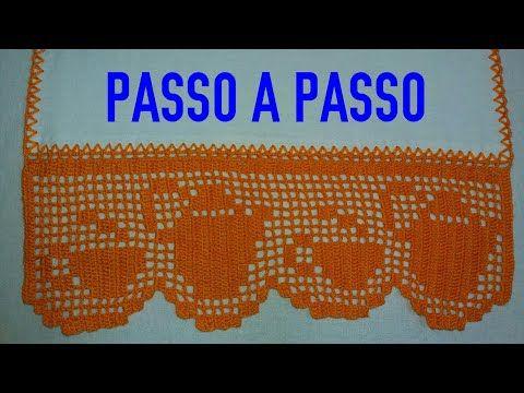 Barrado Em Croche Para Toalhas De Banhos E Rosto Modelo 104 Parte