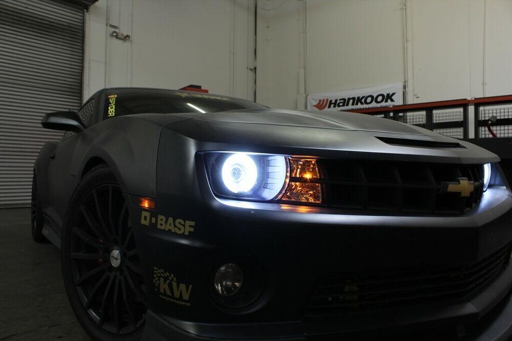 Fits Black 10-13 Camaro CCFL Halo Projector Headlights Lamp Lights Left+Right