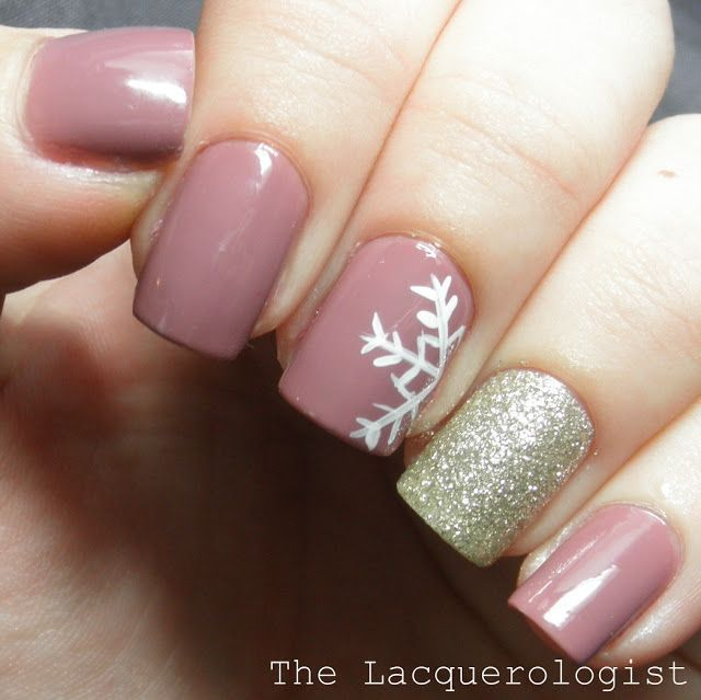 30 festive Christmas acrylic nail designs: The Perfect January Manicure by  The Lacquerologist - 30 Festive Christmas Acrylic Nail Designs NAILS Pinterest