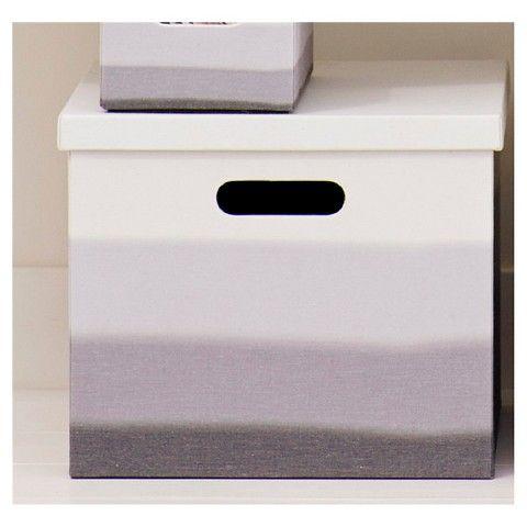 Canvas Milk Crate Decorative Storage Box   Gray   Room Essentials™