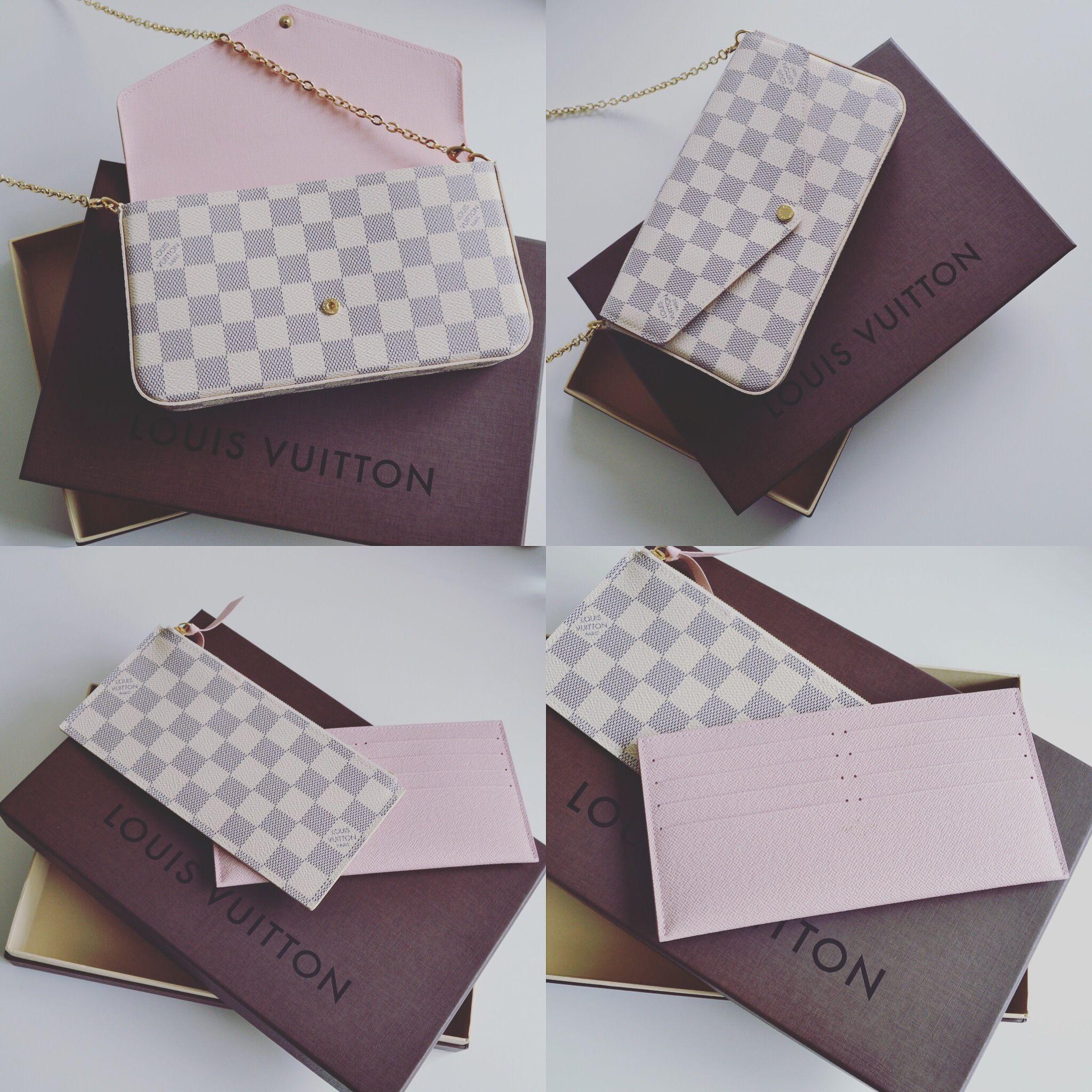 Louis Vuitton Pochette Felicie Damier Azure   Designer bags ... 8625858ec2d