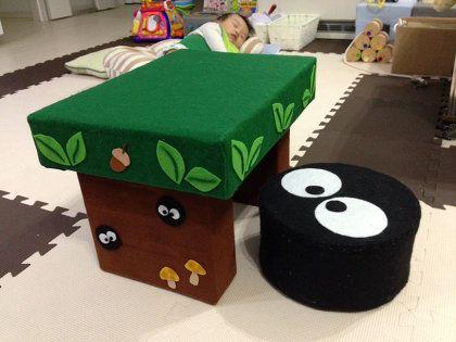 牛乳パックde森のテーブル Step Chips ステップチップス 手作り おもちゃ ダンボール 手作りおもちゃ 牛乳パック おもちゃ
