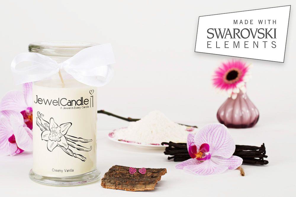 Bien connu Bougie à la vanille avec bijou Swarovski| JewelCandle.fr  LU24