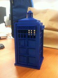 TARDIS 3D printed pencil box.  Reason 3,794 why I need a 3D printer.