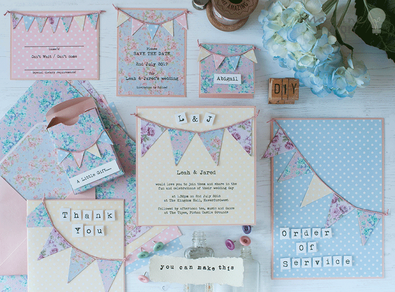 How To Make...Summer Bunting Wedding Stationery | DIY wedding, Place ...