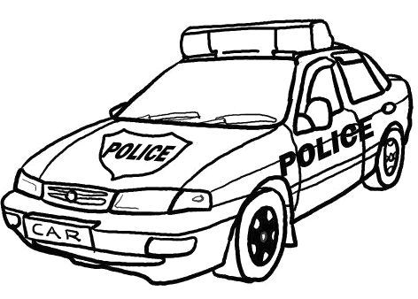 police car coloring page # 1