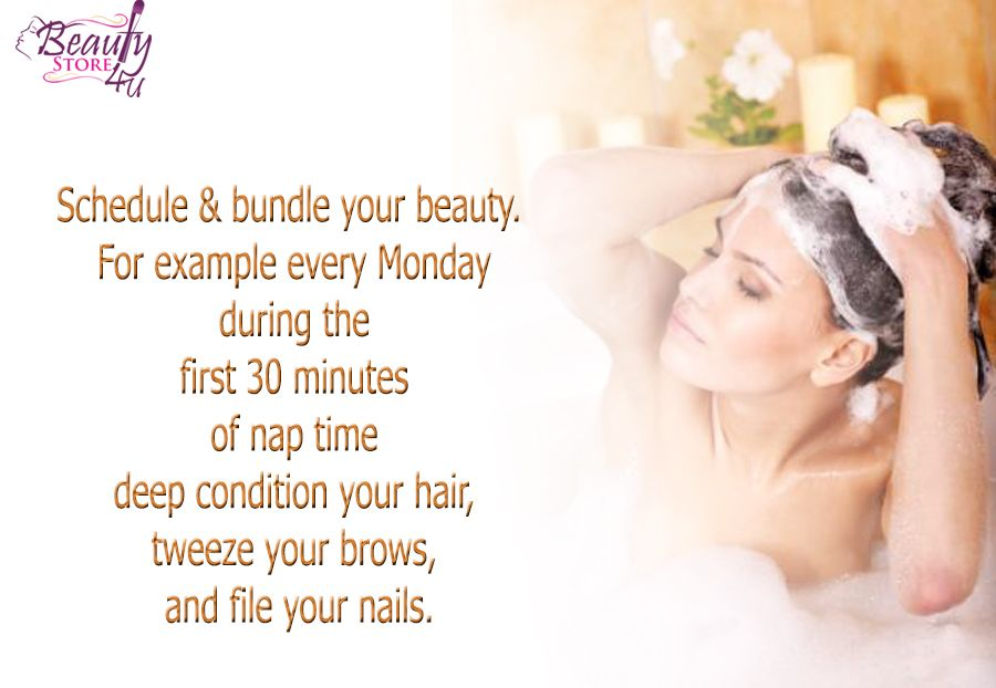 Schedule \ bundle your beauty For example every Monday during the - minutes example