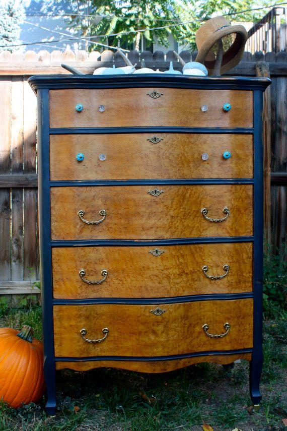 Stunning Birds Eye Maple Tallboy Dresser With By Urbanden On Etsy 575 00