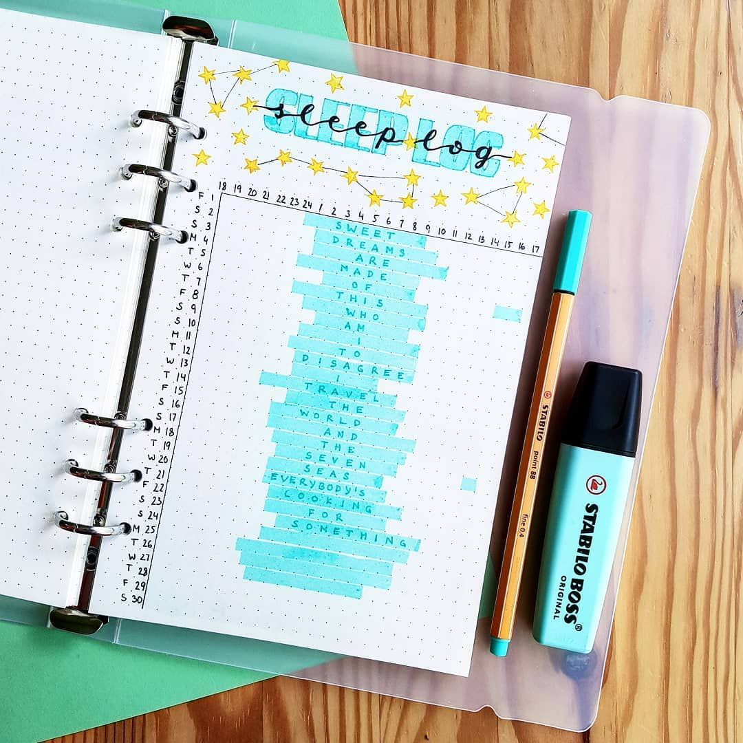 9 Creative Sleep Log Ideas For Your Bullet Journal to Create Better Sleep Habits