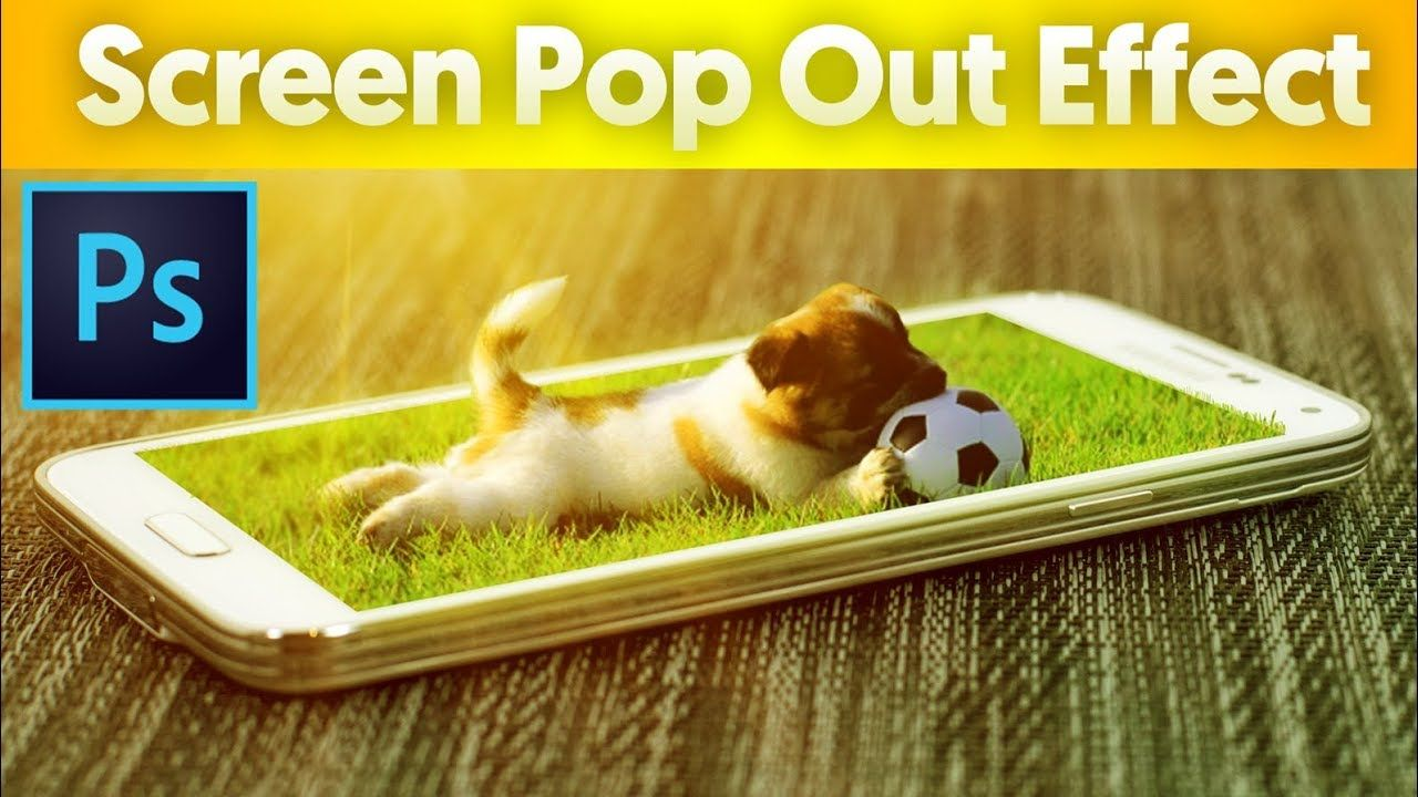 3D Phone Pop Out Effect in Tutorial,