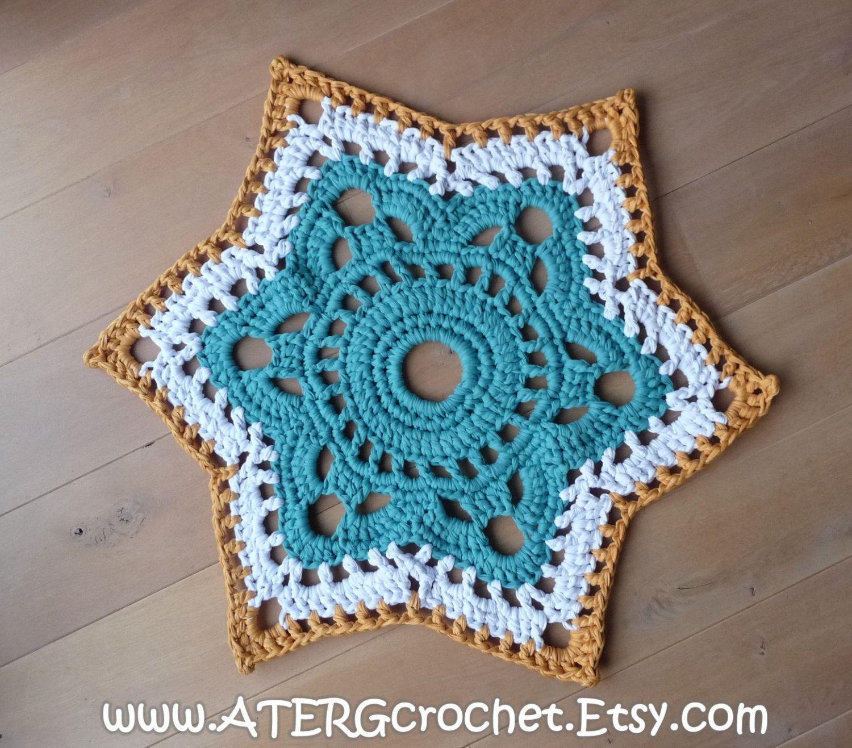 Crochet pattern STAR RUG by ATERGcrochet XL by ATERGcrochet | Häkeln ...
