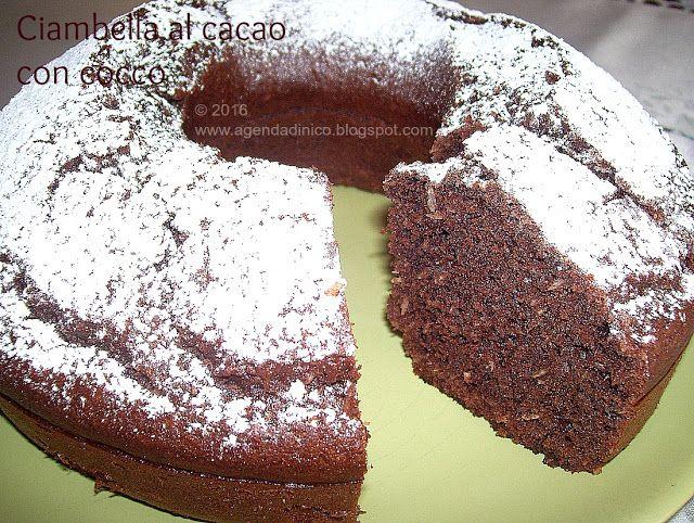 Agenda di Nico: Ciambellone al cacao con cocco