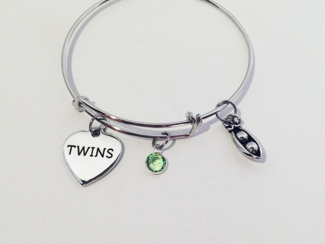 Alex And Ani Inspired Bracelet Twins Gift Twin Sister For Friendship Two Peas In A Pod By SincereImpressions