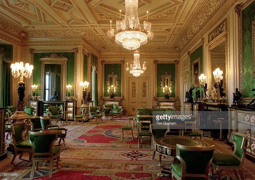The Green Drawing Room Of Windsor Castle Damask Patterns