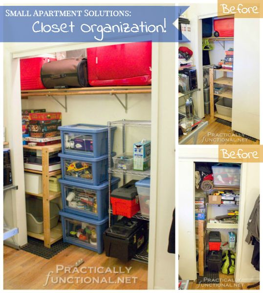 Small Apartment Solutions: Closet Organization! | Closet ...