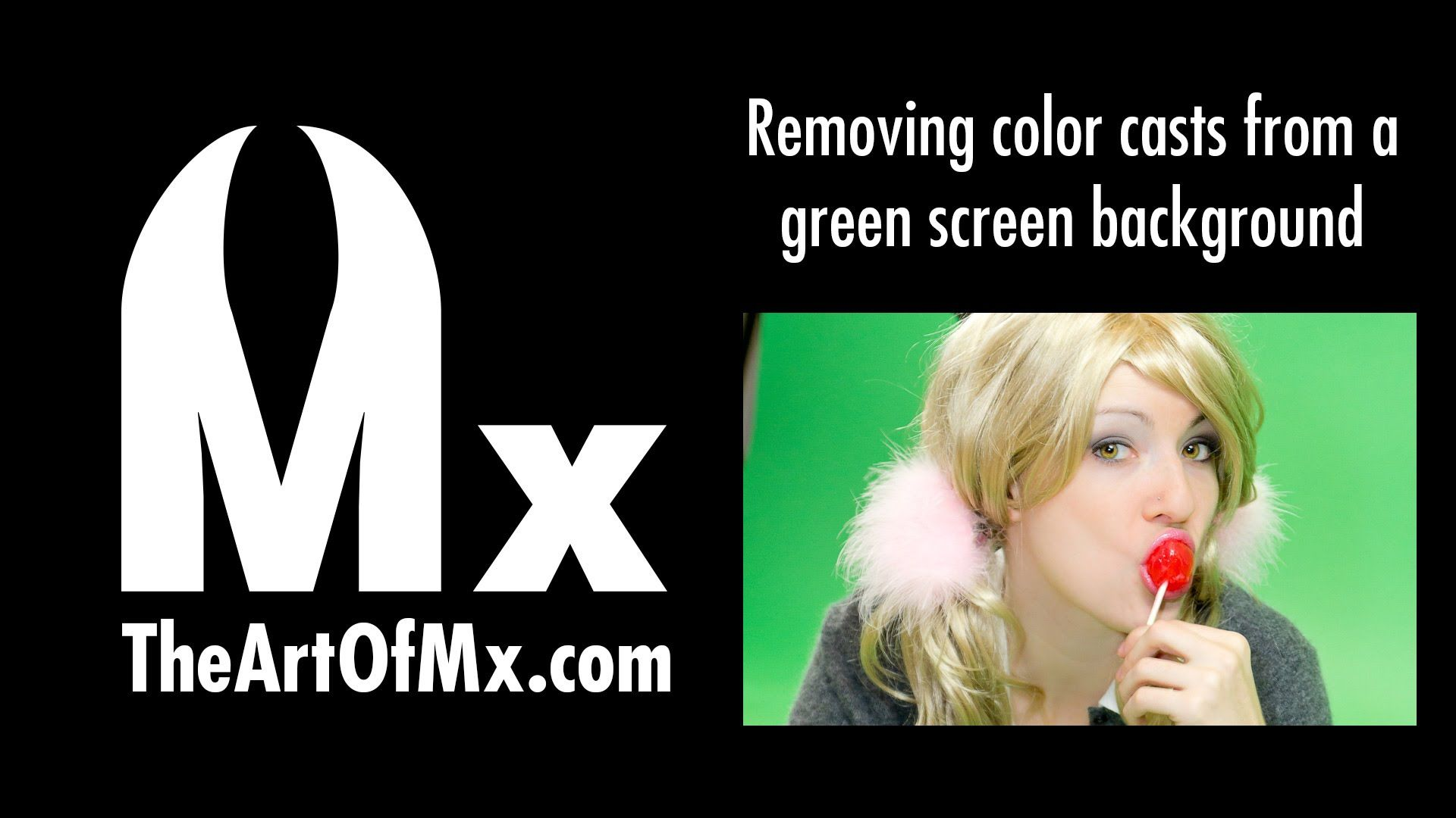 Using to remove color cast or green screen