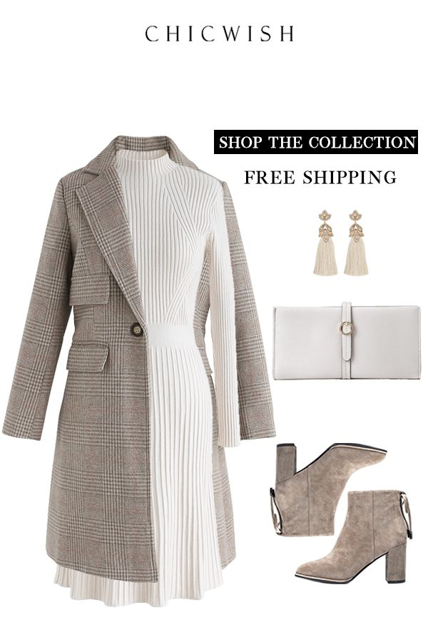 Free Shipping & Easy Return  Up to 30% Off  Simplistic Ribbed Knit Dress  women party christmas holiday outfit clothing winterfashion fashion elegant winteroutfit  knitdress knitclothing  is part of Women's fashion dresses -