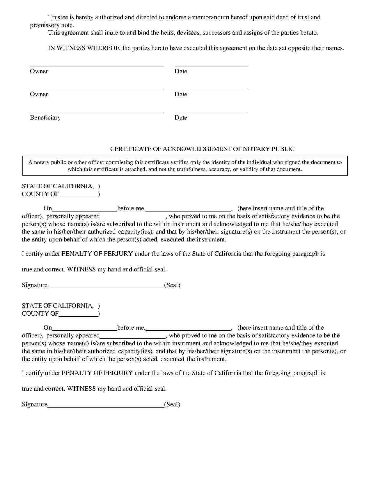 Templates Deed Of Trust Templates Hunter Trust Document Sign Templates