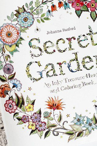 British Illustrator Johanna Basford Created The First Adult Colouring Book Called Secret Garden A