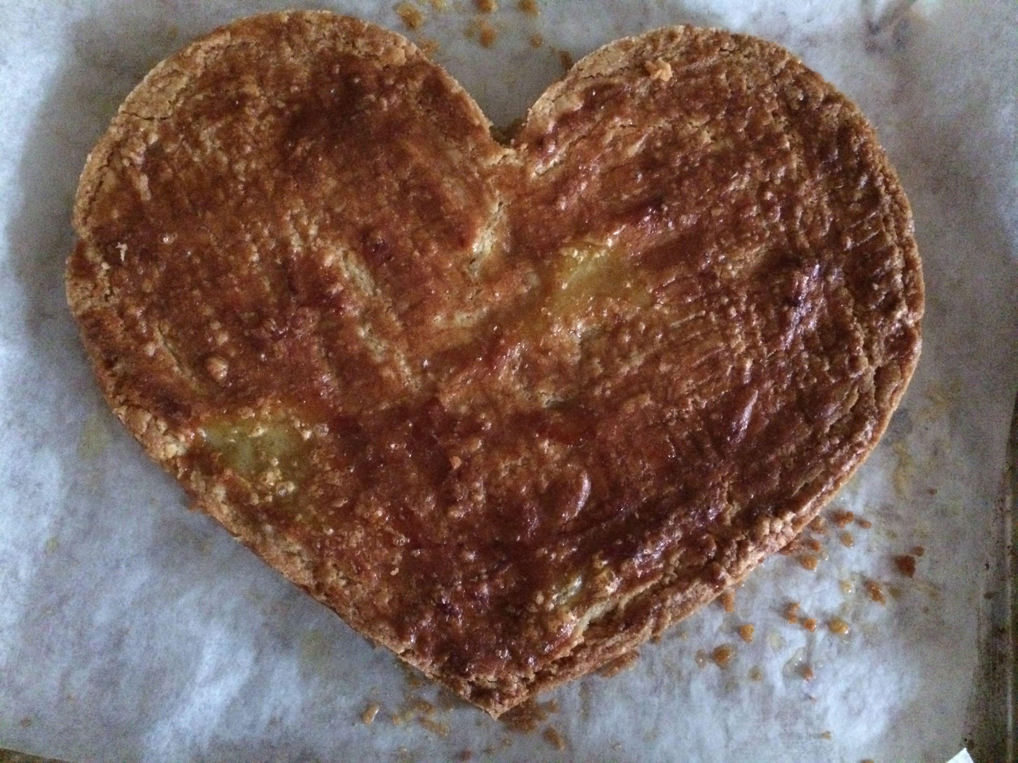 Een hart van boterkoek voor Valentijnsdag