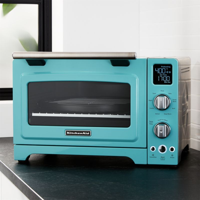 Free Shipping Shop Blue Kitchenaid Countertop Oven Enjoy Full Size Oven Performance Right On Your Ki Retro Kitchen Appliances Countertop Oven Retro Kitchen