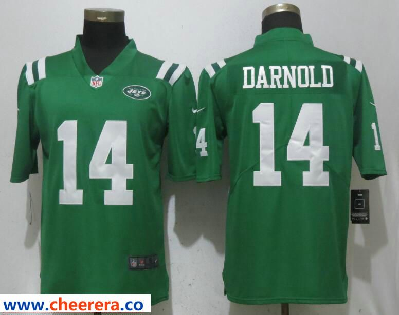 more photos 68b11 7eb80 Nike Jets 14 Sam Darnold Green Color Rush Limited Jersey ...