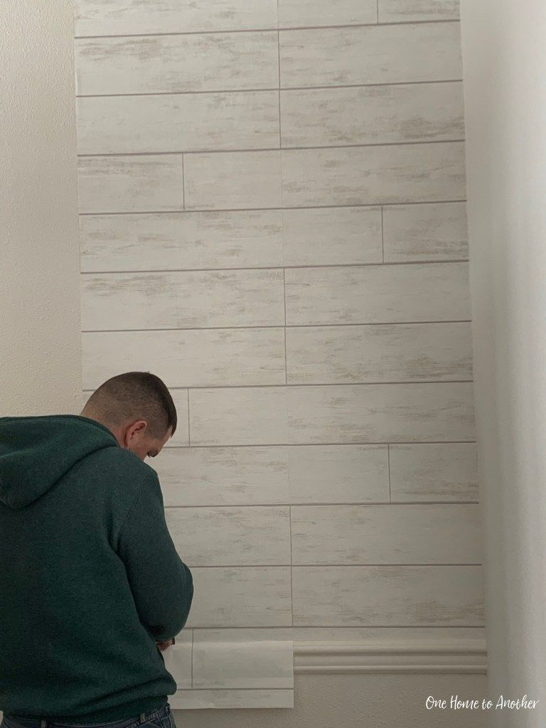 My DIY and Review of Magnolia Home Shiplap Wallpaper in