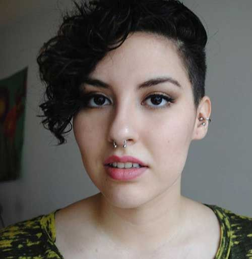 Curly Asymmetrical Pixie Hairstyles Asymmetrical Pixie Pixie - Styling curly pixie