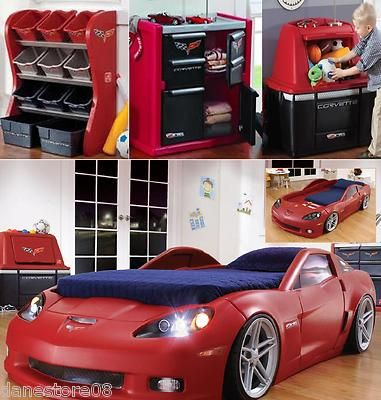 Car bed set our kid is definitely gonna have stuff like - Cool things to have in your room ...