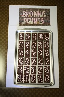 Jennifer Oyler: Brownie Points - Love this! When students earn compliments/do good deeds, they earn brownie points! When the cookie sheet is filled, teacher brings brownies to class for her students! So doing this or something like it next year!