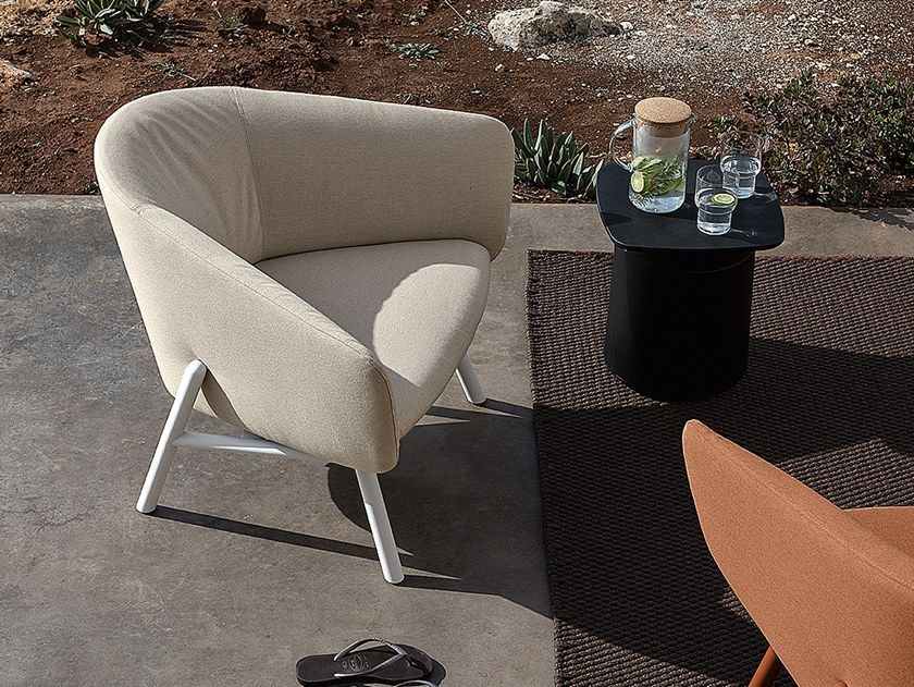 Download The Catalogue And Request Prices Of Tuile Armchair By Kristalia Sunbrella Garden Armchair With Armrests Design Armchair Outdoor Chairs Garden Sofa