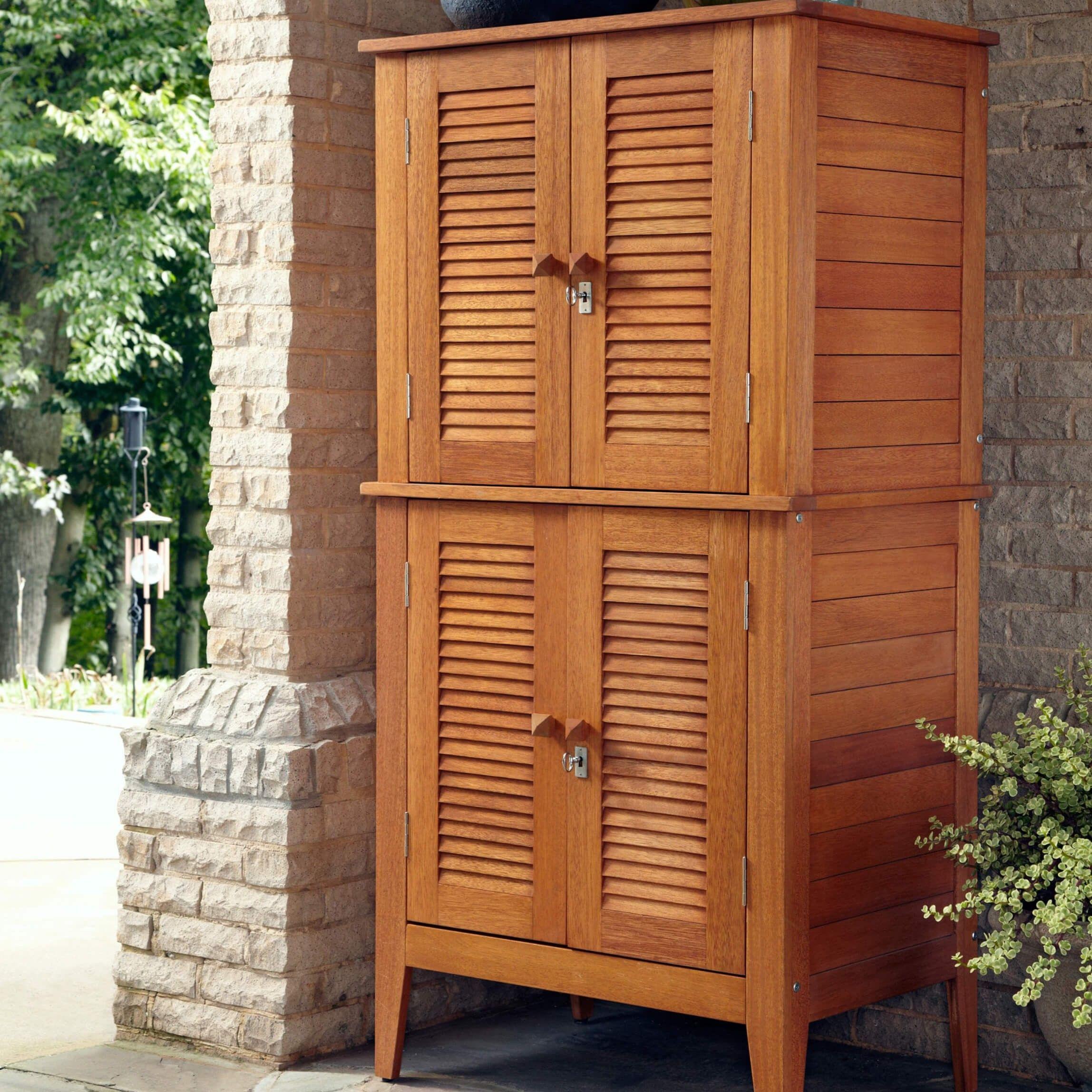 4 Türen aus Holz Schrank | Top-10 Arten Von Outdoor-Deck Boxen ...