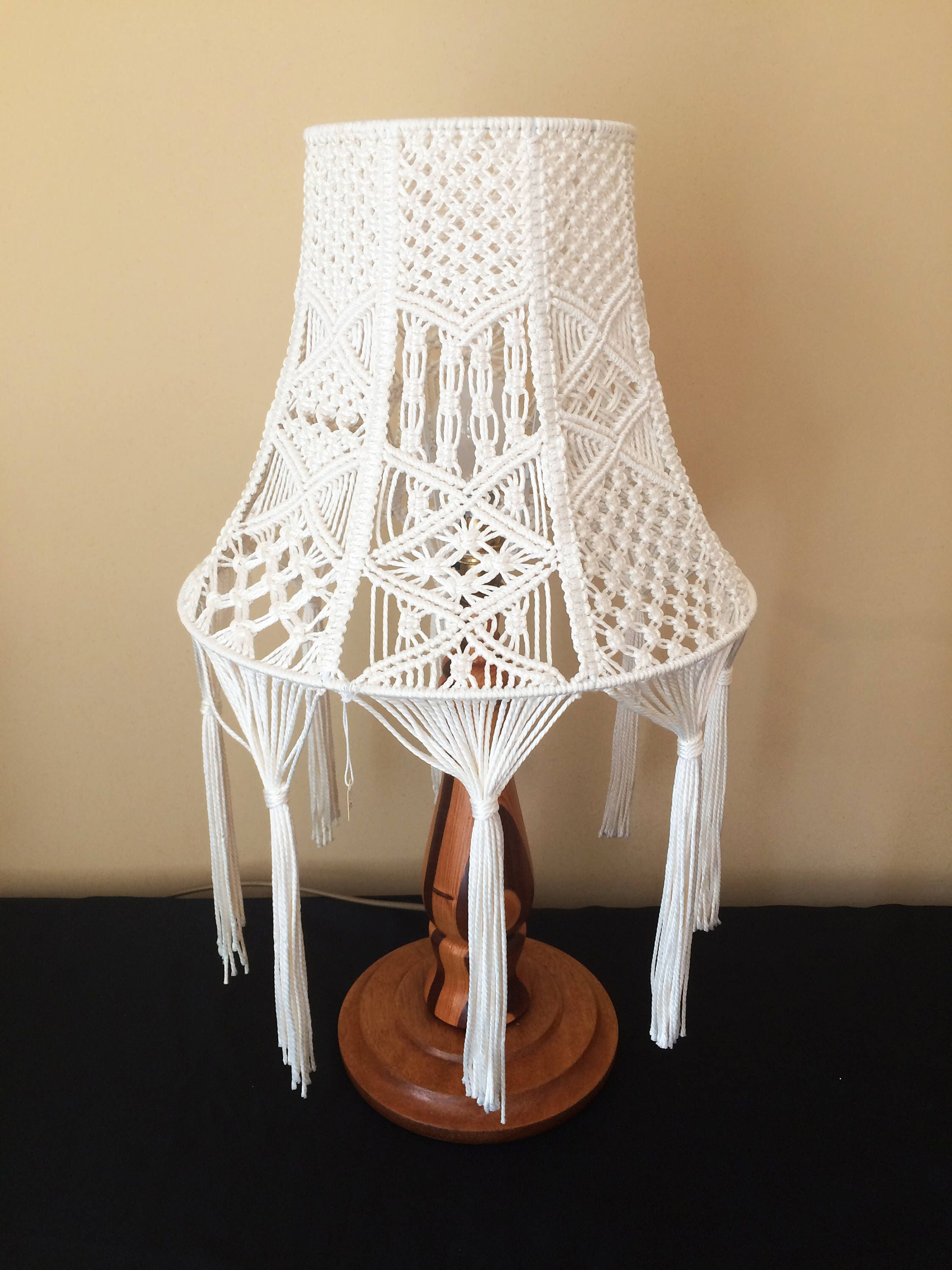 14 inch macrame lamp shade pinterest etsy patterns and craft 14 inch macrame lamp shade by creesloughmacrame on etsy httpsetsy listing52164647414 inch macrame lamp shade aloadofball Images