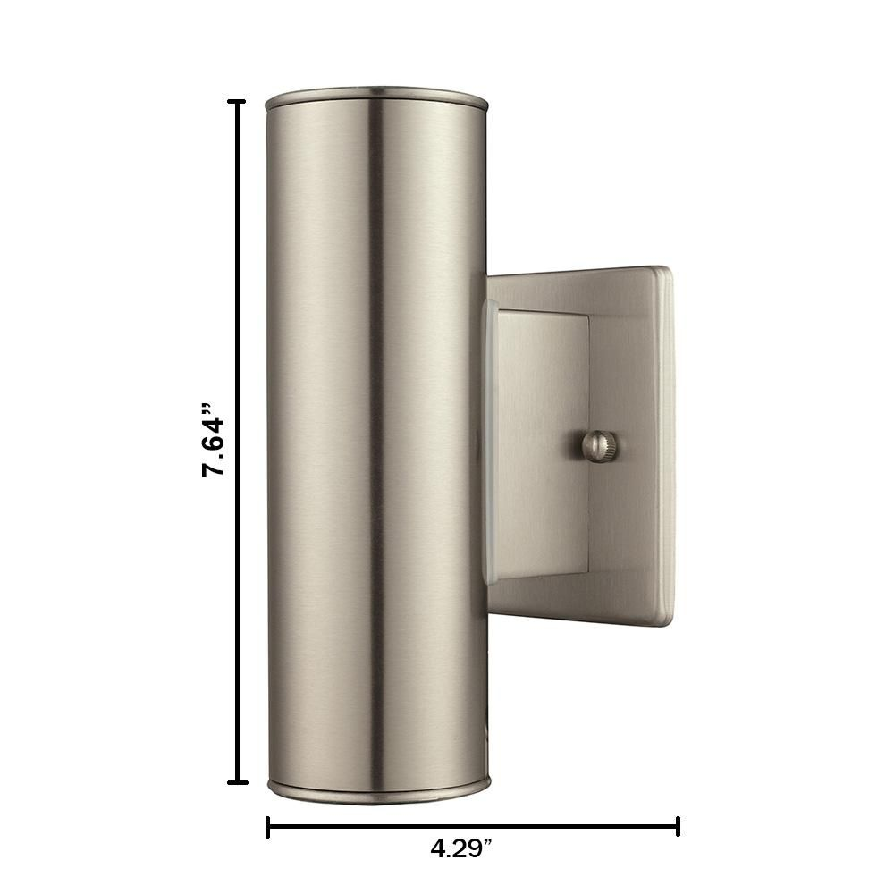 Eglo Riga Led Outdoor Wall Light Eglo Riga 2 Light Stainless Steel Outdoor Integrated Wall