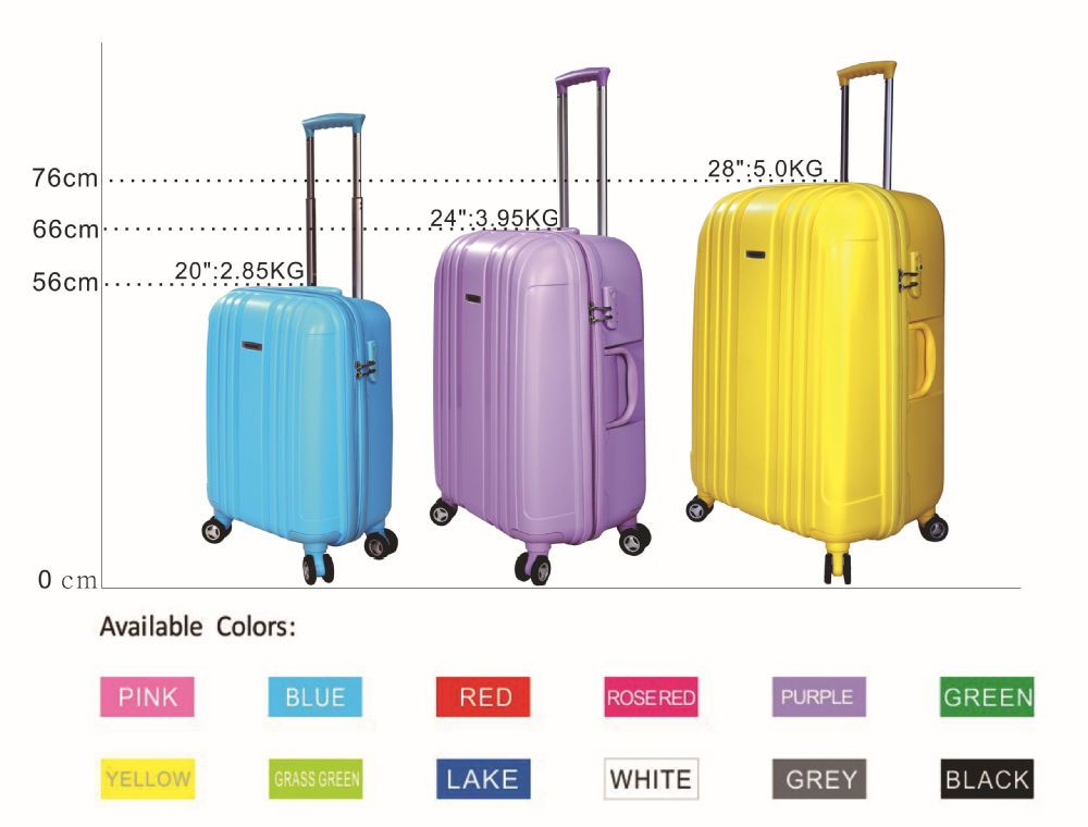 Shangdu Pp1201 Carry On Suitcase Lady Trolley Luggage Bag Www Luggage Sizes Red Purple Pink Blue