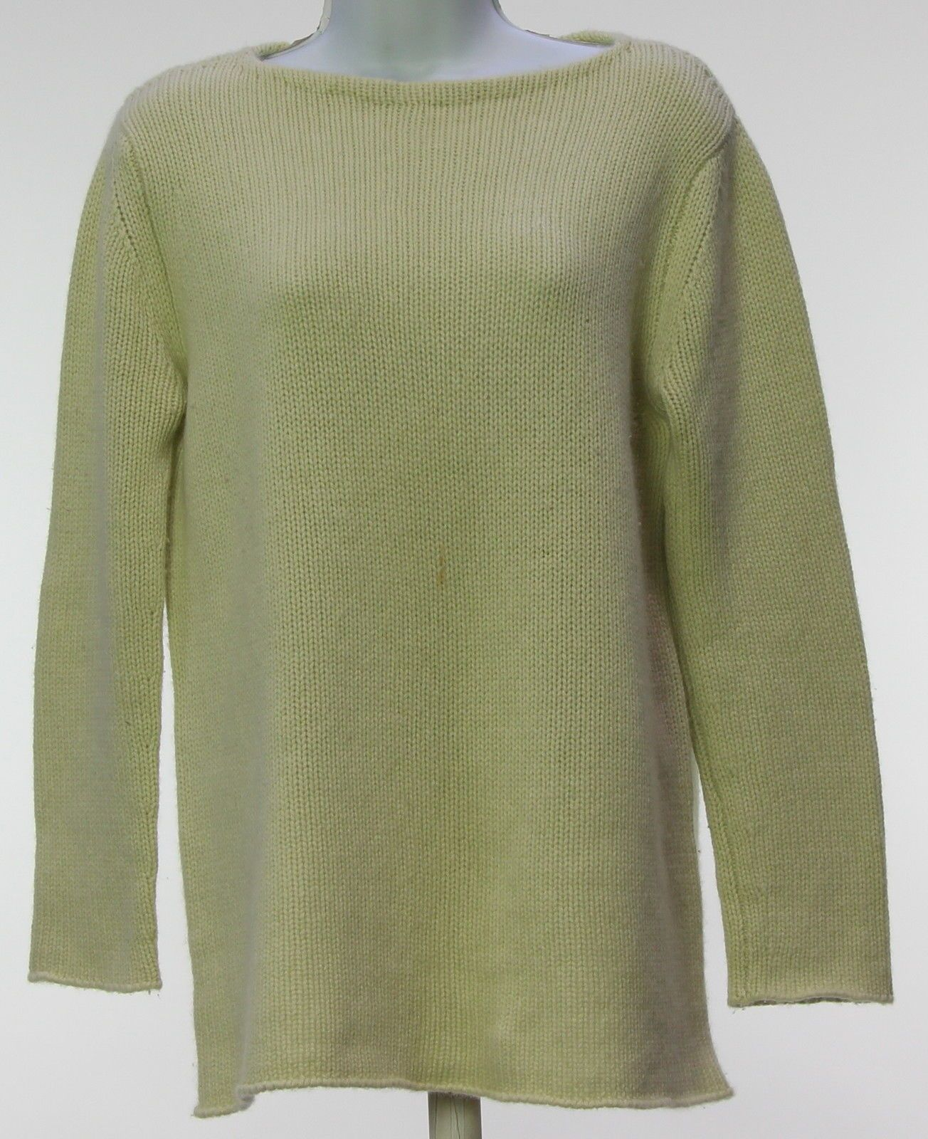 Womens NEIMAN MARCUS Light Green 100% Cashmere Sweater Size L ...