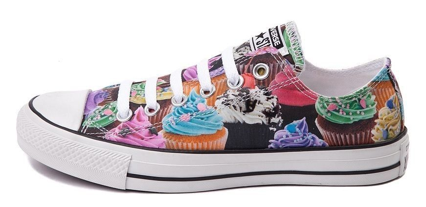 47f50eb1202343 New CONVERSE ALL STAR LOW Top CUPCAKES SNEAKER Shoes Colorful ...
