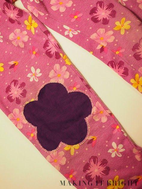 Mending Holes in Knit Pants - Reverse Applique